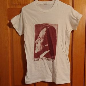 Gustav Mahler Portrait T Shirt Womens Size Medium
